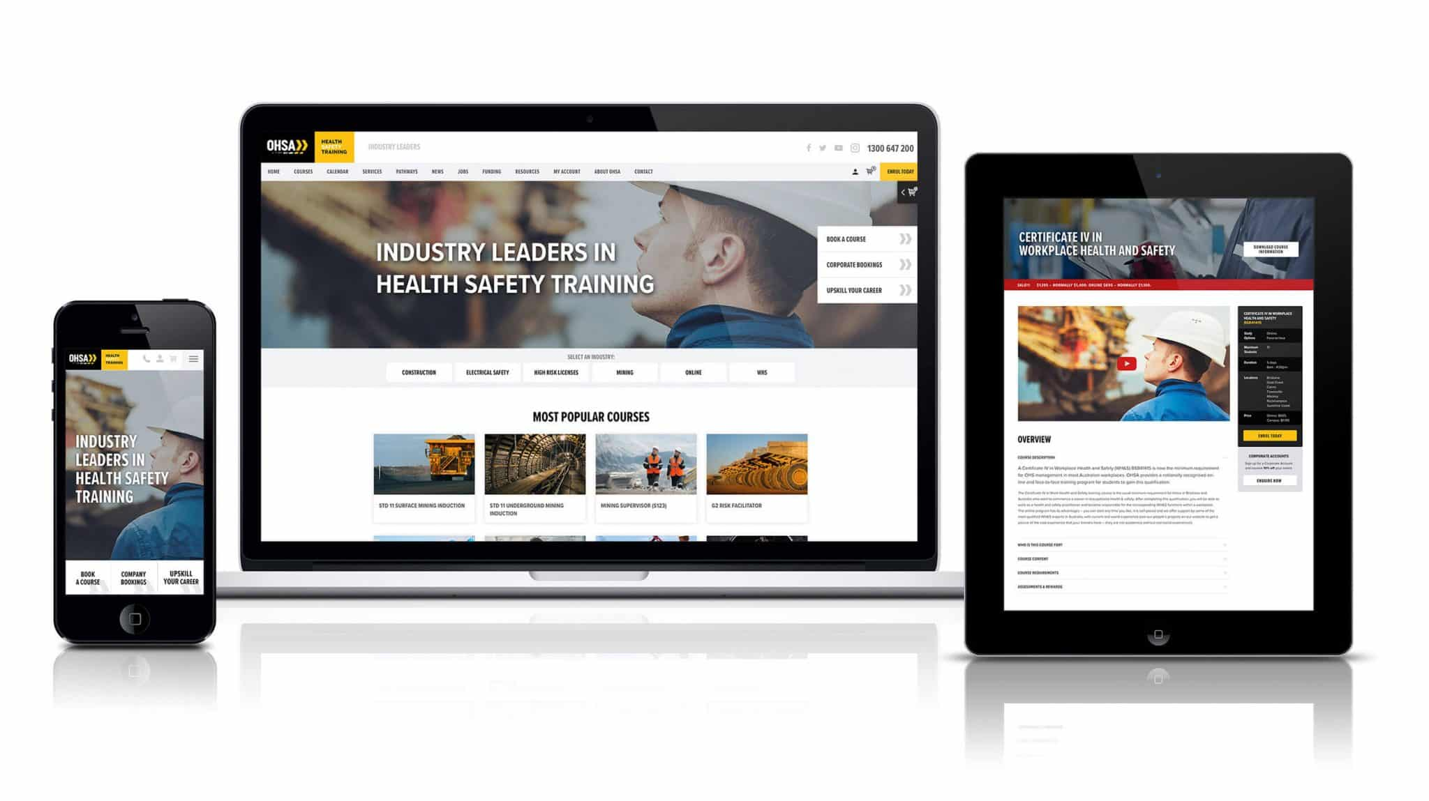OHSA Website Design and Development