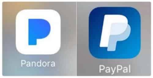 Paypal and Pandora Rebranding