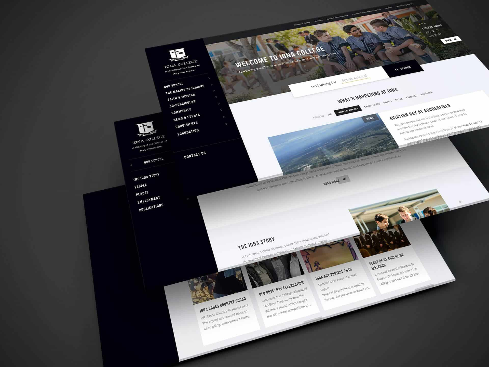 Web Design - Iona College