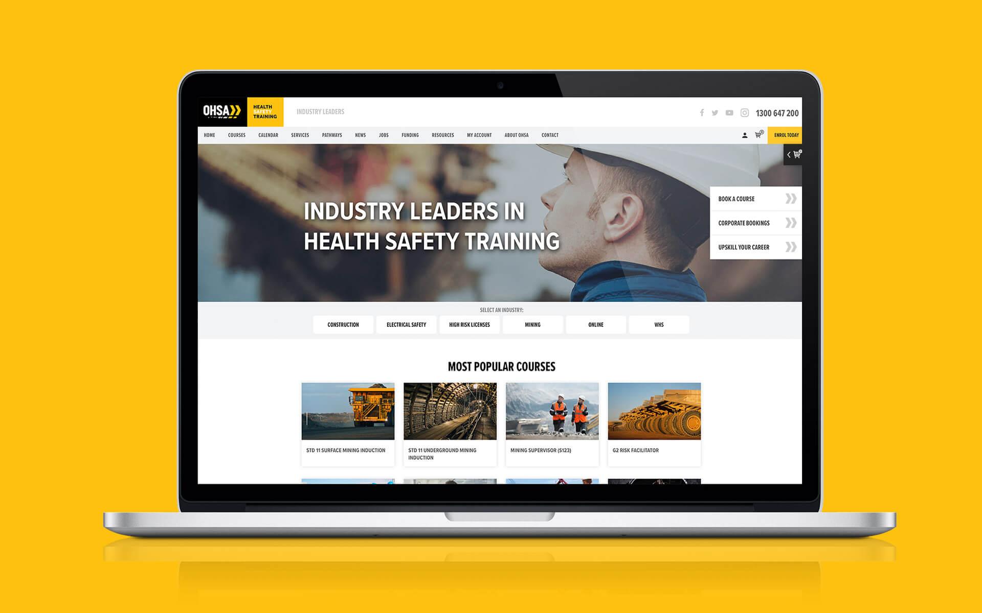 OHSA Website Design
