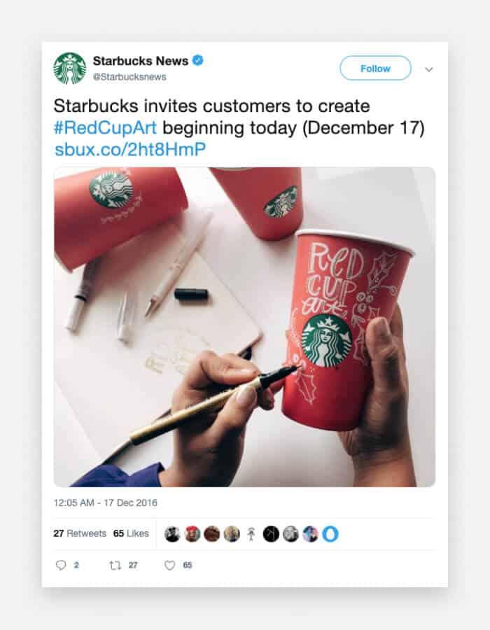 Starbucks Christmas Brand promotion